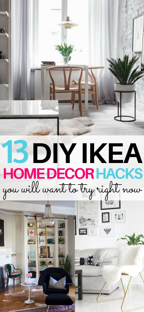 I have complied a list of 13 of the very best DIY IKEA Hacks that anyone can do! These Ikea hacks will be sure to jazz up your furniture and leave your house looking beautiful. The best ikea ideas, ikea kitchen, diy ikea hack, kids ikea hack, bedroom ikea hack, ikea hack storage, ikea hack tv unit, ikea bookcase, ikea dresser, ikea hack living room, ikea hacks storage #ikeahack