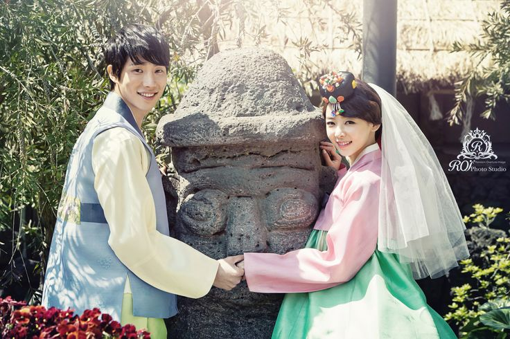 good-looking Korean traditional clothes Hanbok, and wedding picture in Jeju, Korea #Jeju #wedding #Hanbok #couple