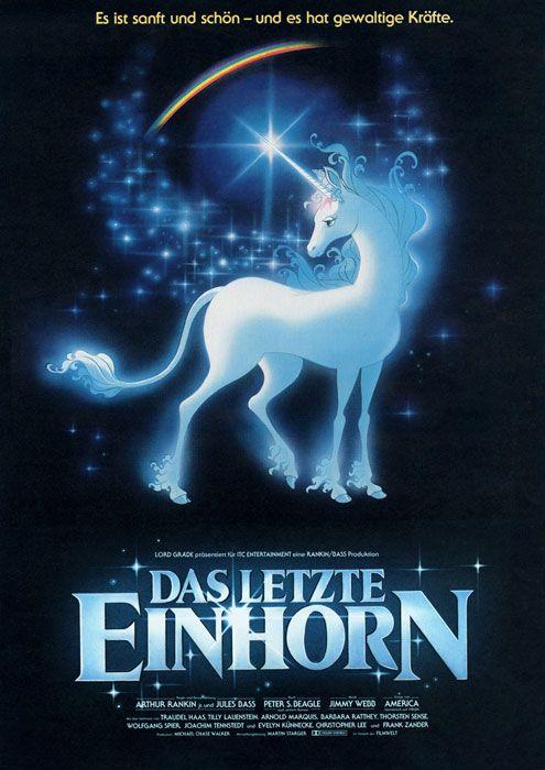 The Last Unicorn, 1982, Klassischer Zeichentrickfilm, von Arthur Rankin Jr. und Jules Bass