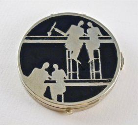 "1920s French Art Deco ""Bar Scene"" Compact"