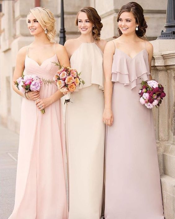 Marsala rustic chic spring wedding bridesmaid dresses/ shade of pink ...