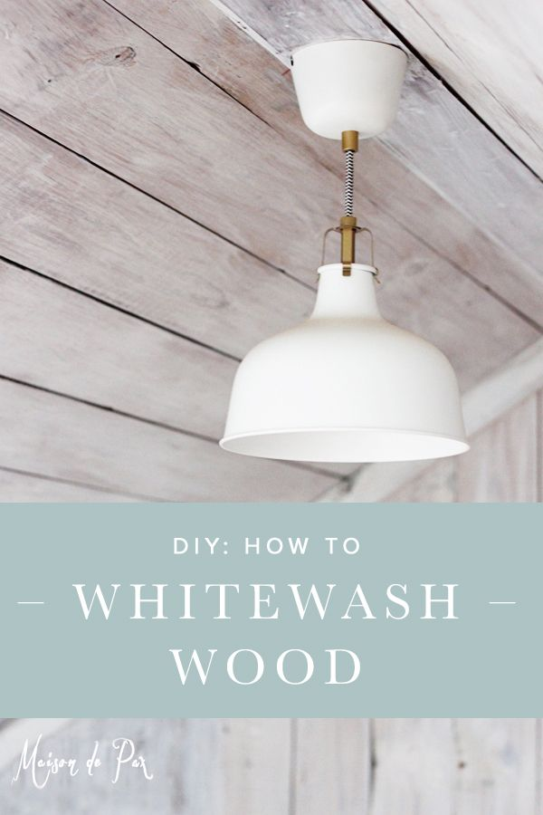 Get the step-by-step DIY tutorial on how to transform boring planks to whitewashed wood. This lovely attic transformation will have you swooning for a modern-rustic look!