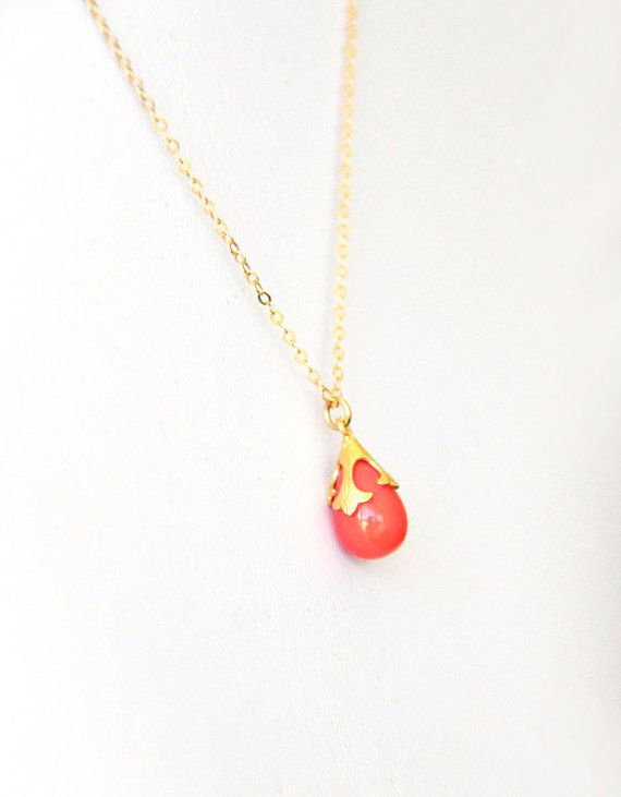 Check out this item in my Etsy shop https://www.etsy.com/listing/156149179/coral-drop-pendant-peach-color-gemstone