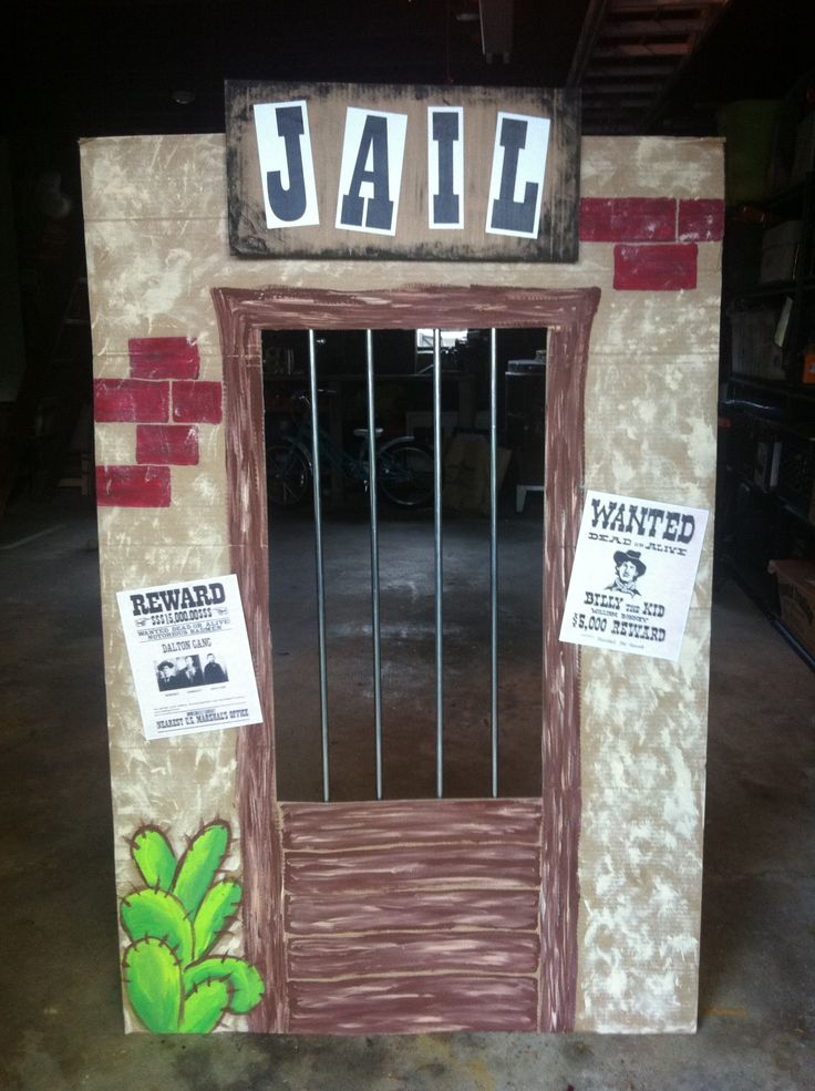 Cardboard Western Jail Crafts In 2019 Cowboy Party