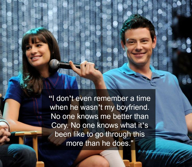 interview, Michele said the following about her relationship with Cory: | A Timeline Of Cory Monteith And Lea Michele's Relationship