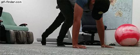 Pushups are bad for you apperantly | Gif Finder – Find and Share funny animated gifs