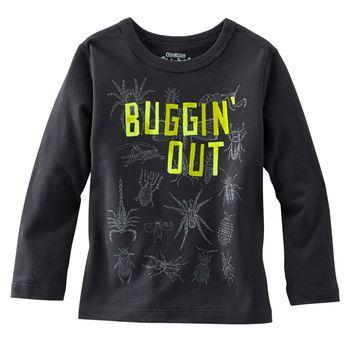 OshKosh Originals - Gris Buggin Out - de insectos algodón jersey.