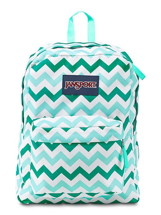 New JanSport Chevron Blue, Aqua, Teal print SuperBreak backpack available on JanSport.com