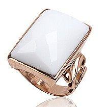 Dames ring 925 zilver verguld met witte Agaat edelsteen.    http://www.lookinggoodtoday.com/sieraden/ringen