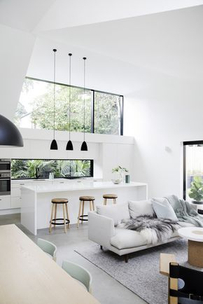 love the open floor plan & windows out to green