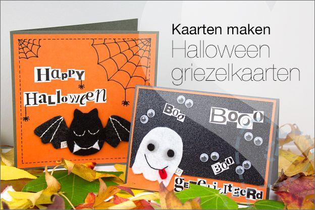 Zelf kaartjes maken: Halloween griezelige kaarten. In dit artikel leg ik uit hoe je makkelijk enge kaarten voor Halloween kunt maken. Natuurlijk inclusief gratis viltpatroon. Ook leuk om met kinderen te knutselen.
