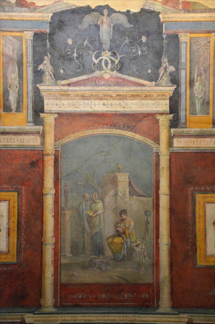 Casa della Farnesina di Agrippa, Roma. Gli affreschi dell'inizio del I secolo d.C. Museo Nazionale Romano