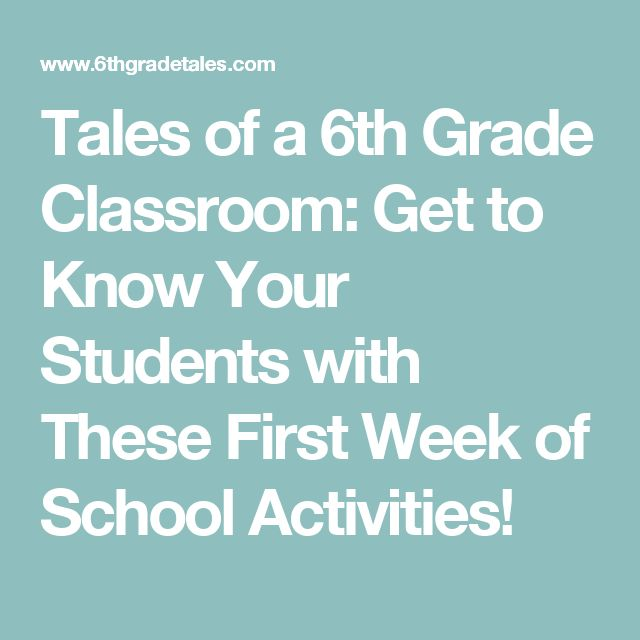 Tales of a 6th Grade Classroom: Get to Know Your Students with These First Week of School Activities!