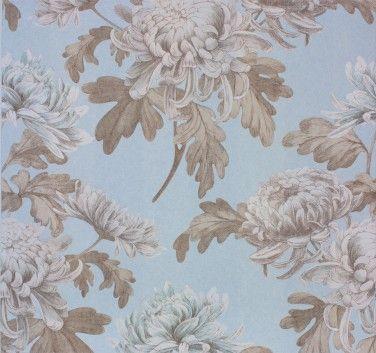 Vliestapete Floral hellblau creme metallic Tapeten Rasch Textil Tapete Comtesse 225494 online bestellen