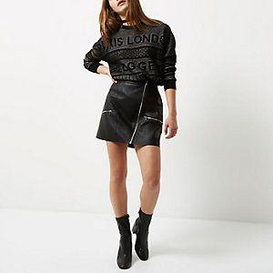 Petite black knit blogger jumper