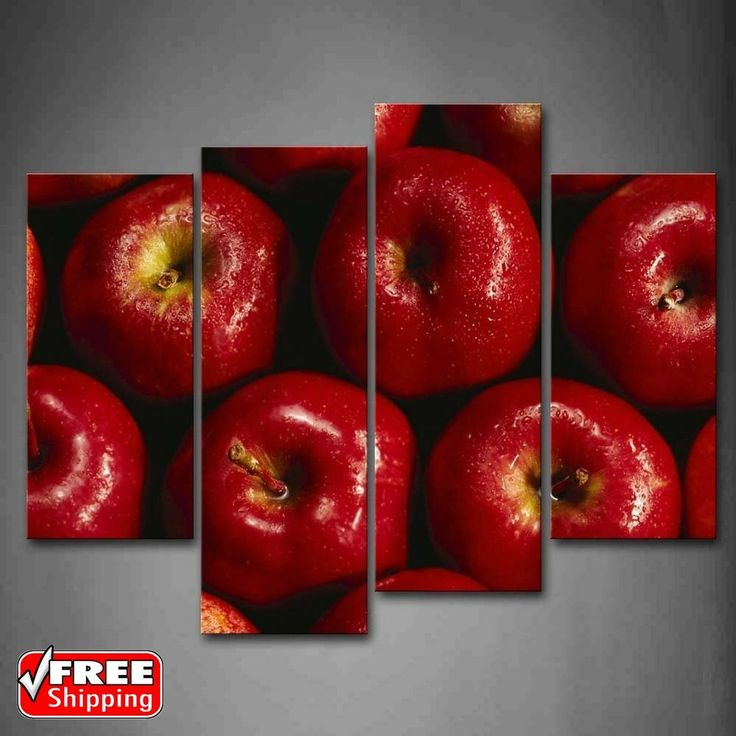 Red Apple Wall Art Canvas Painting Fruit Pictures Photo Print Home Decor NEW   Home & Garden, Home Décor, Posters & Prints   eBay!