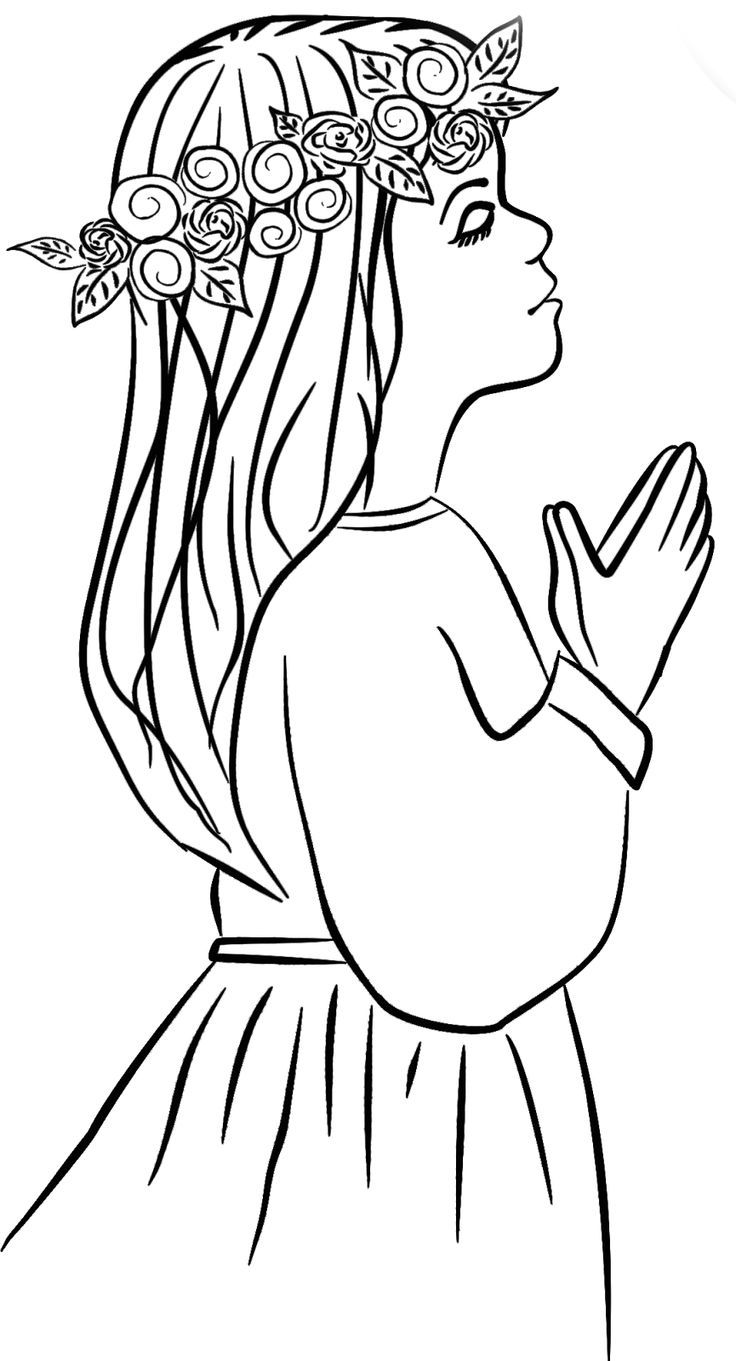 first communion coloring pages free - photo#14