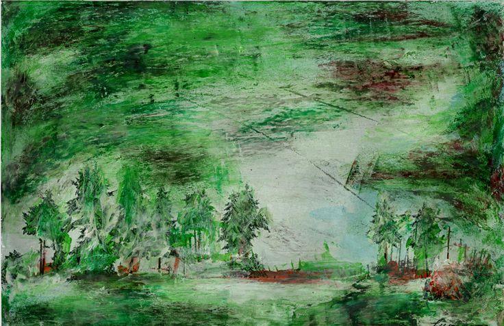 Marian Lupu LUPINO -mixt painting-21X29 cm