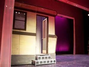 Trailer on stage for Legally Blonde