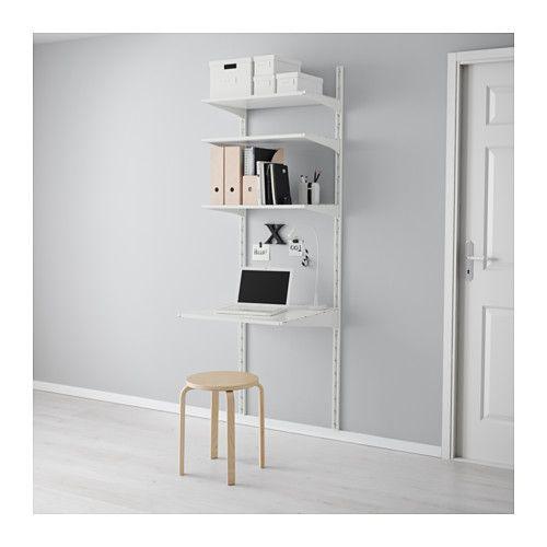 IKEA - ALGOT, Wandschiene/Böden, Die Teile der ALGOT Serie lassen sich vielseitig kombinieren und können so dem Bedarf und dem vorhandenen Platz angepasst werden.Konsolen, Böden und andere Zubehörteile werden einfach eingehängt. So lassen sich Kombinationen leicht montieren, anpassen und verändern.Passt überall im Haus - sogar im Badezimmer und anderen Feuchträumen, selbst auf verglasten Balkonen.Auch für Badezimmer und andere Feuchträume im Haus geeignet.Konsolen werden einfach dort in…
