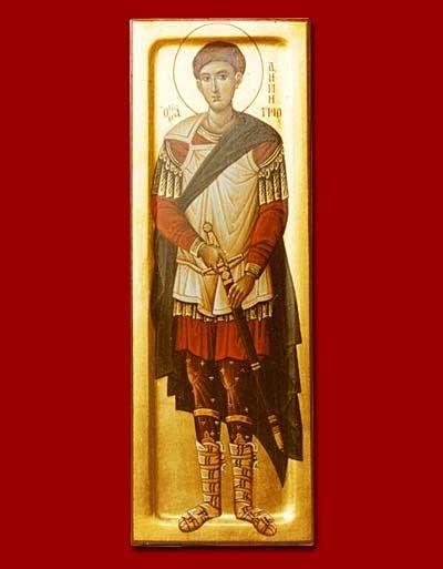 St. Demetrios  the Myrrh flowing / Ο Άγιος Δημήτριος ο Μεγαλομάρτυρας και Μυροβλήτης     ~           http://www.theorthodoxicon.com/