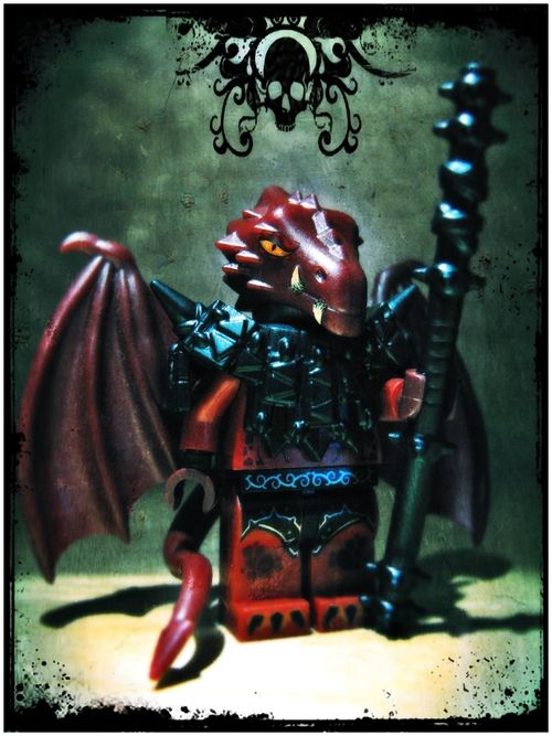 Custom LEGO Minifigure of the Week - Draconian by KlyphRa #LEGO #BrickWarriors #Minifigure #KlyphRa #Dragonman #Draconian #D&D #Dragon #Demon #LEGOaccessories #MinifigureAccessories