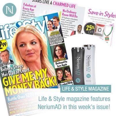 Life & Style magazine features Nerium AD