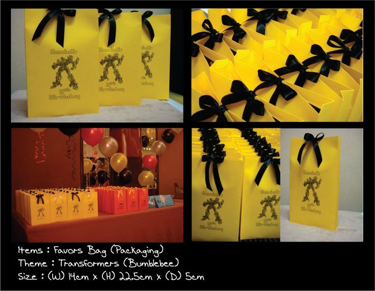 Birthday Party Favors: Transformers Bumblebee Theme
