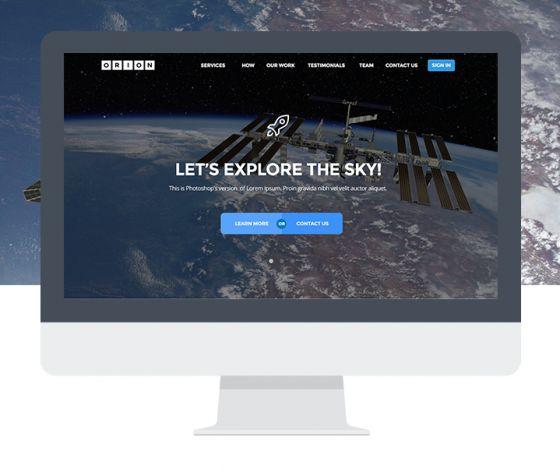 Orion - Free PSD Template | TheFreebieBay.com