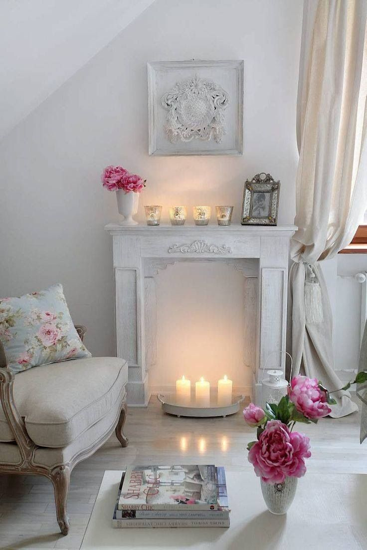 Great way to create ambience with a non-functional fireplace.