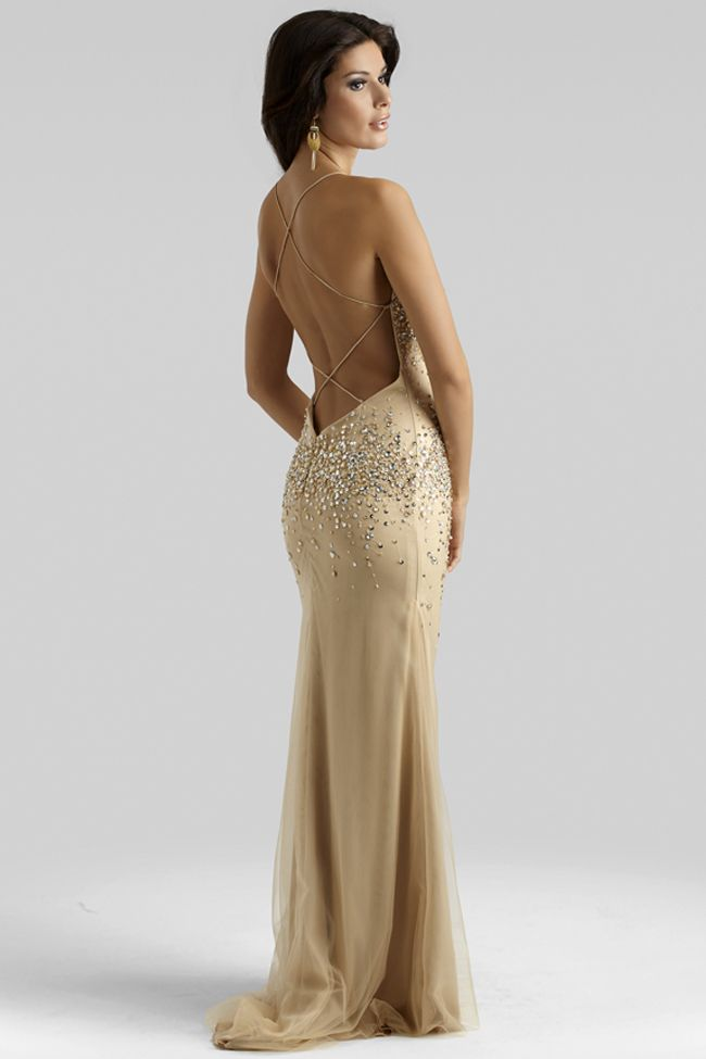Gold bedazzled prom dresses - Fashion dresses