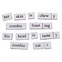 Over 200 word magnets relevant to the interests of the walking dead
