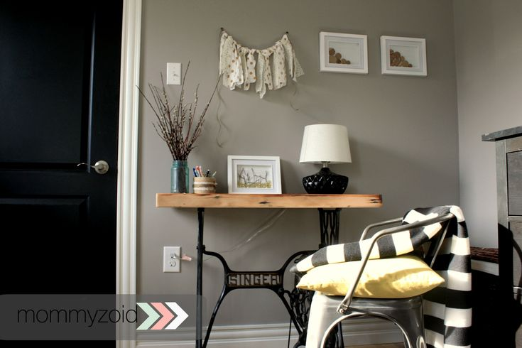 """Adding a baby to our home means I lost my office space. But never fear, I have a solution! See how we make our small space include an """"office""""."""