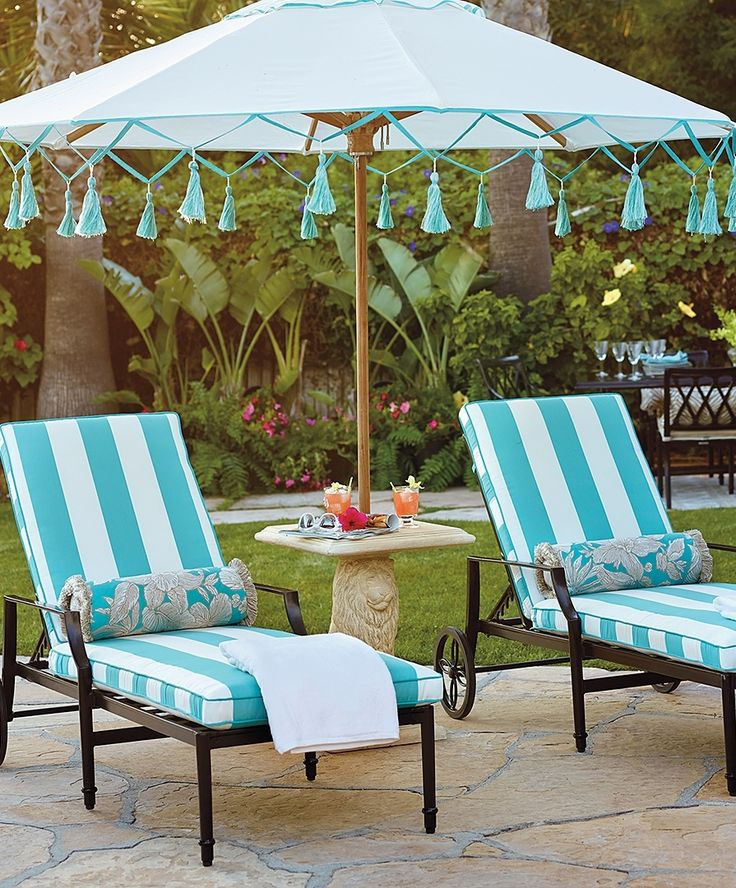 Adorned With Nonfading Tassels And Trim, The Aruba Carousel Umbrella Offers  The Same Superior Sun · Chaise Lounge ChairsChaise LoungesOutdoor ...