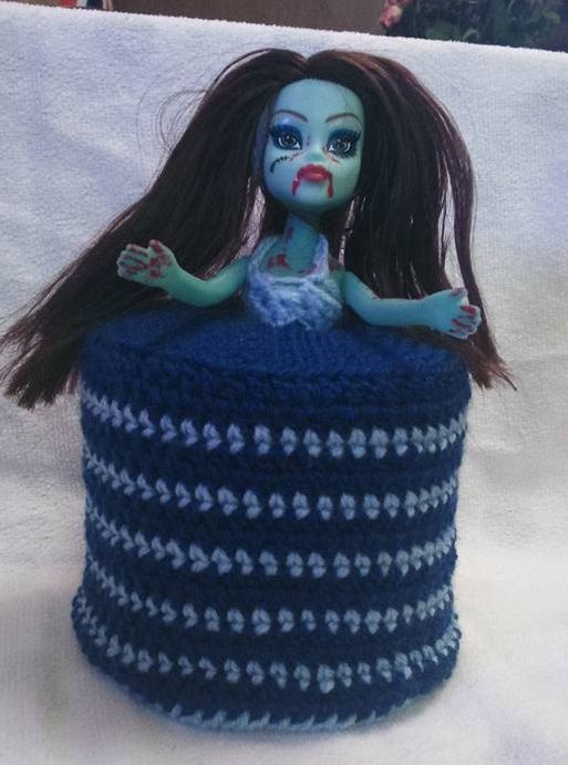 zombie doll toilet roll cover