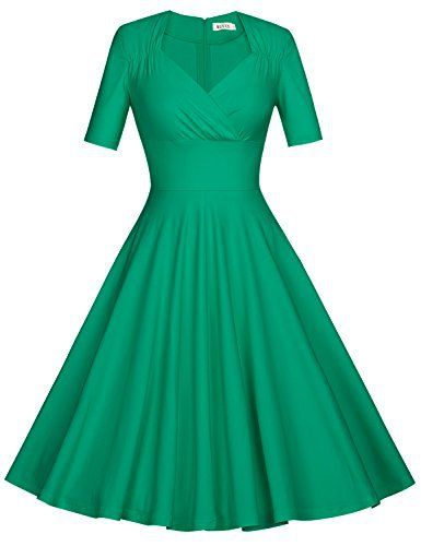 New Trending Formal Dresses: MUXXN Womens Rockabilly 60s Short Sleeve Summer Garden Party Picnic Dress (Grass Green XXL). MUXXN Womens Rockabilly 60s Short Sleeve Summer Garden Party Picnic Dress (Grass Green XXL)   Special Offer: $32.99      366 Reviews Size Information S: BUST- 33.5″ WAIST- 25.5″ CUFF- 10.5″ LENGTH- 40.8″ M: BUST- 35.5″ WAIST- 27.5″ CUFF- 11″...