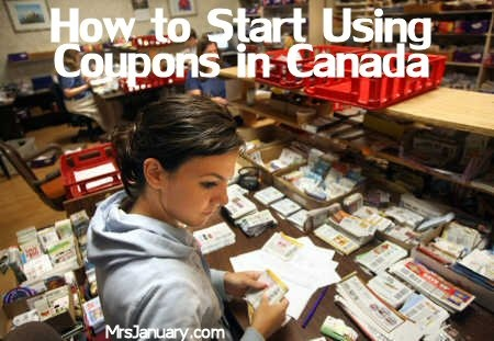How To Start Using Coupons in Canada via MrsJanuary.com #coupons