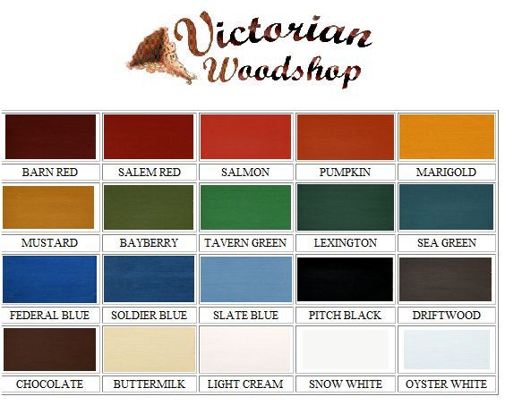 Mlk Paint Color Chart the Victorian Woodshop