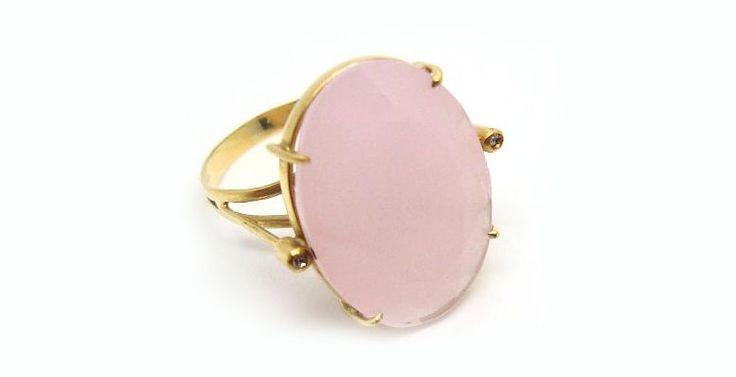 Anel Quartzo Rosa a Pedra do Signo de Touro