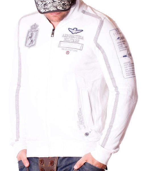 Aeronautica Militare Hanorace Cu Fermoar - Supporto Forze hanorac cu fermoar alb