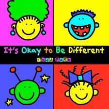It's Okay to Be Different by Todd Parr uses themes of diversity, acceptance, inclusion, youth empowerment