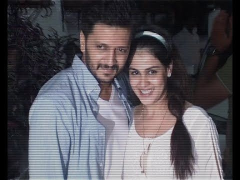 Riteish Deshmukh with his pregnant wife Genelia at LAI BHAARI screening.