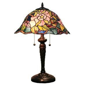 lampe de salon tiffany verre et mtal vritable hauteur 60cm 16572 achat - Lampe De Salon