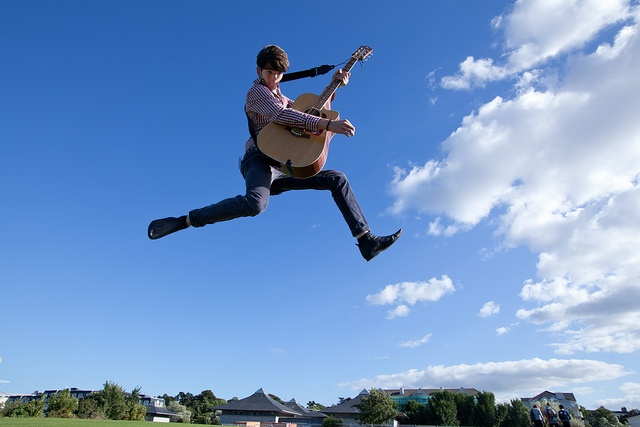 Harry flying through the air in August 2010