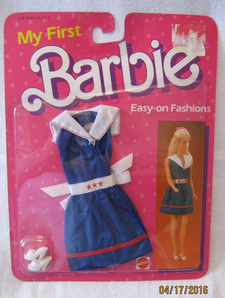 Barbie My First Fashion Vintage 1985 Blue Satin Nautical Theme Outfit New   eBay