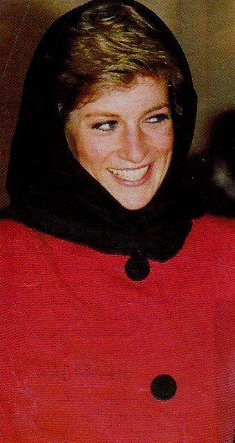 January 24, 1990: Princess Diana at the Husaini Shia Islamic Centre, Stanmore.