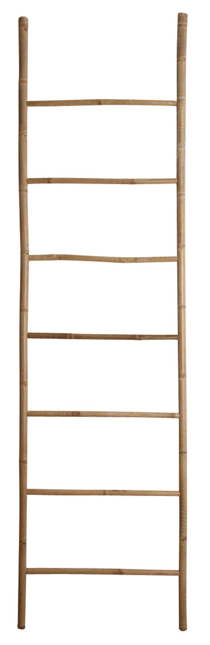 Apportez une touche naturelle à votre salle de bain avec cette jolie échelle porte-serviettes en bambou naturel. Ses dimensions (cm) : H220 x L60