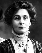 October 10,1903:  The Women's Social and Political Union was formed by Emmeline Pankhurst to fight for women's rights in Britain.