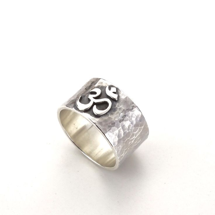 Ohm yoga ring from my Etsy shop https://www.etsy.com/listing/295174029/om-ohm-yoga-ring-spiritual-band. #yoga #ohm #rustic #spirituality #meditation