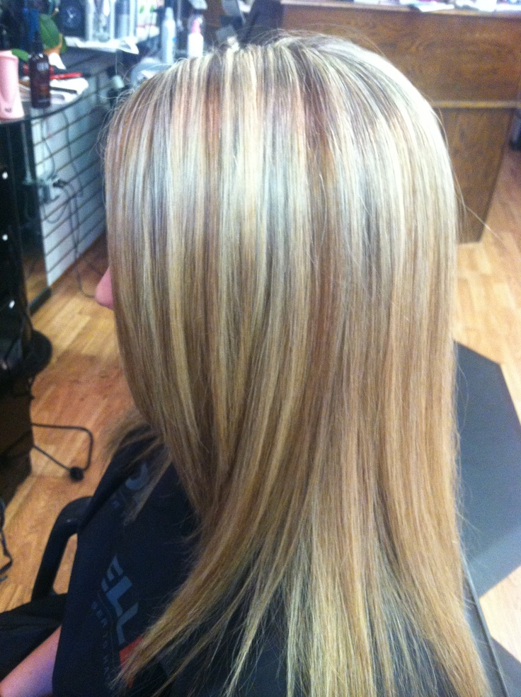 High Lights And Copper Gold Mocha Low Lights Hair